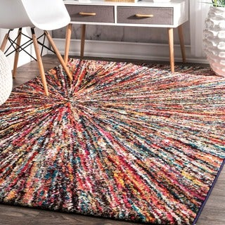 Shop Well Woven Bright Waves Multi Colored Area Rug 5 3