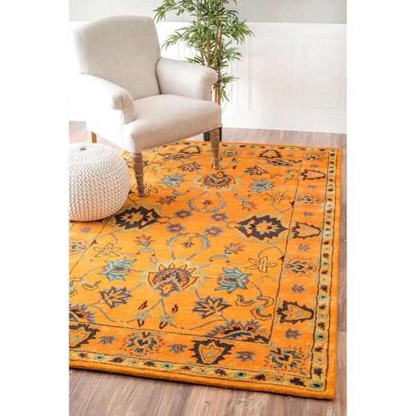 Nuloom Handmade Overdyed Persian Wool Gold Rug 5 X 8