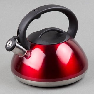 Creative Home Sphere 3 Qt Whistling Stainless Steel Tea Kettle - Metallic Cranberry