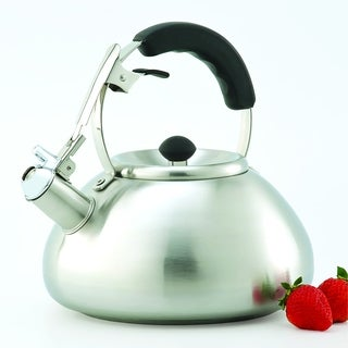 Creative Home Savanah 3 Qt Whistling Brushed Stainless Steel Tea Kettle