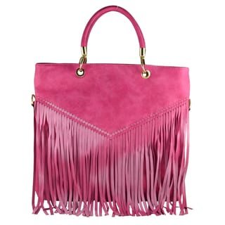 Rimen & Co. Fringe Indie Inspired Tote Shopper Handbag