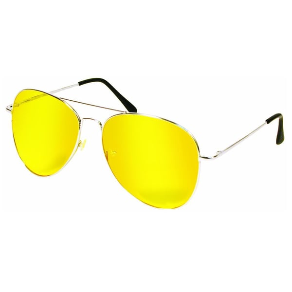 9f4c4bd3941 Shop As Seen on TV Original Aviator Night View Yellow Glasses - Free  Shipping On Orders Over  45 - Overstock.com - 10666287