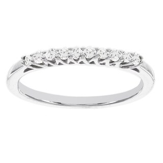 H Star Sterling Silver 1/5ct White Diamond Stackable Ring (I-J, I2-I3)