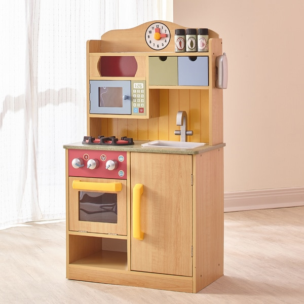 Shop Teamson Kids Little Chef Burlywood Kitchen With