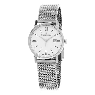 Maurice Lacroix Women's EL1084-SS002-111 'Eliros' White Dial Stainless Steel Swiss Quartz Watch