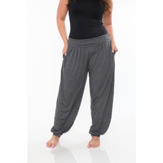 White Mark Women's Plus Size Harem Pants|https://ak1.ostkcdn.com/images/products/10666362/P17731558.jpg?impolicy=medium