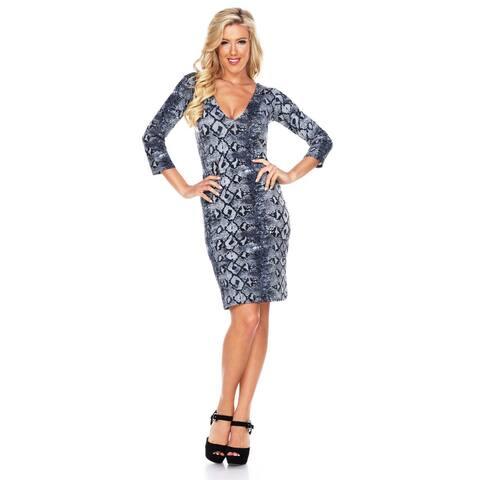 White Mark Women's Snake 'Vivian' Dress