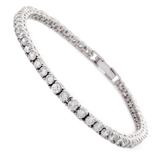 NEXTE Jewelry Rhodium over Brass Cubic Zirconia Tennis Bracelet