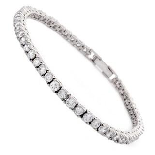 NEXTE Jewelry Rhodium over Brass Cubic Zirconia Tennis Bracelet