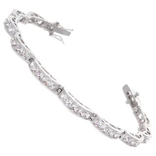 NEXTE Jewelry Cubic Zirconia Bridge Tennis Bracelet