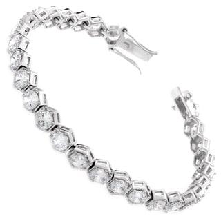 NEXTE Jewelry Cubic Zriconia Hexagon Mount Tennis Bracelet