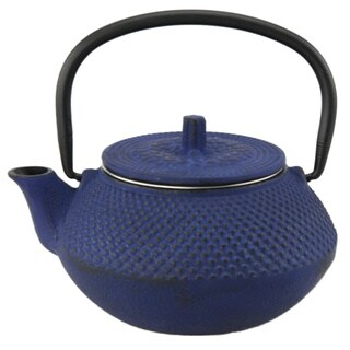 Creative Home Kyusu 10 oz. Cast Iron Tea Pot - Blue
