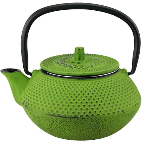 Creative Home Kyusu Green Cast Iron 10 oz. Tea Pot