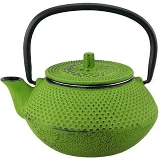 Creative Home Kyusu 10 oz. Cast Iron Tea Pot - Green