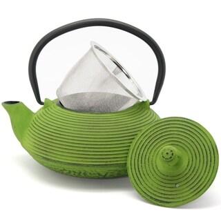 Creative Home Kyusu 20 oz. Cast Iron Tea Pot - Green