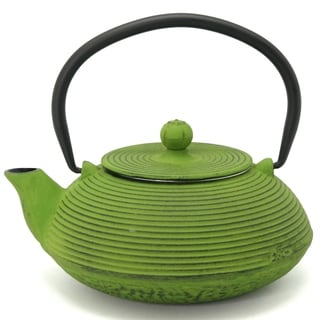 Creative Home Kyusu 20 oz. Cast Iron Tea Pot - Green