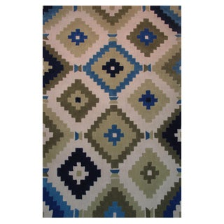 Power-Loomed Caprice Collection Sage Rug (5' x 7'3)