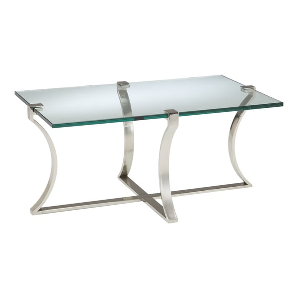 Sterling Uptown Glass Cocktail Table