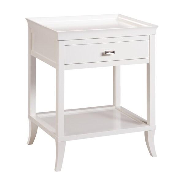 Tamara White Side Table