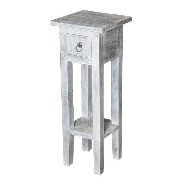 Shop Shutter White Washed End Table  Free Shipping Today. 48 Inch Round Dining Table. Poker Dining Table. Mixing Desk. Spice Rack In A Drawer. Table Number Holders Wedding. Service Desk Engineer Resume. Mobile Drawer Organizer. Outdoor Buffet Table