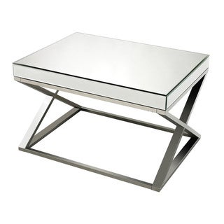 Klein Mirror And Stainless Steel Coffee Table