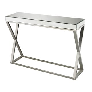 Klein-Mirror And Stainless Console Table