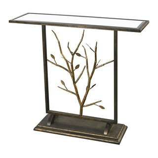 Rhyl Branch Mirrored Decorative Table