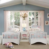 NE Kids School House Jordan White Twin Bed
