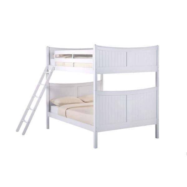 NE Kids School House Taylor White Full Bunk Bed Free