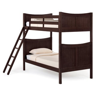 NE Kids School House Taylor Chocolate Twin/ Over Twin Bunk Bed