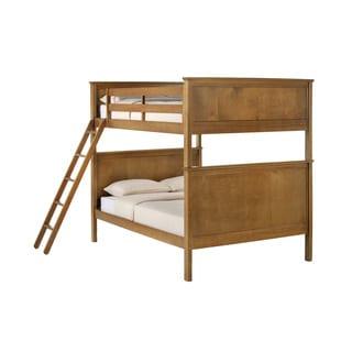NE Kids School House Casey Full-over-Full Pecan Bunk Bed