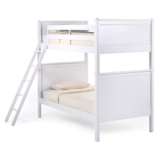 NE Kids School House White 'Casey' Twin Over Twin Bunk Bed