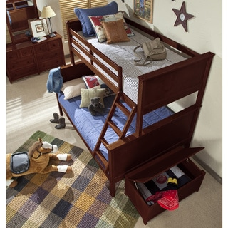 School House Casey Cherry Twin over Full Bunk Bed
