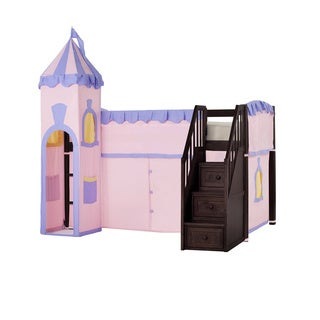 School House Chocolate Junior Princess Tent Loft with Stairs