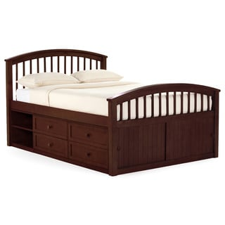 School House Full Captains Storage Bed Cherry
