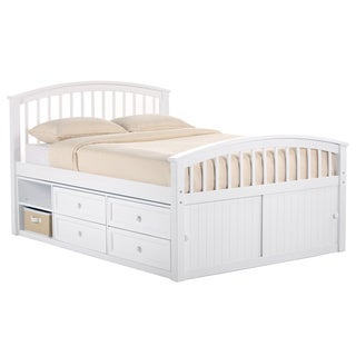 NE Kids School House White Full-sized Captains Storage Bed