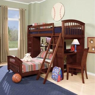 School House Cherry Finish Student Loft w/ Twin Lower Bed