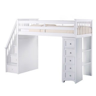 School House Stair Loft w/Chest End White