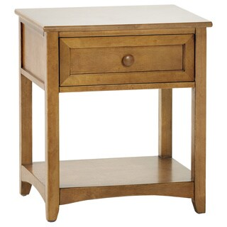 NE Kids School House Pecan One-Drawer Nightstand