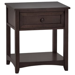 NE Kids School House Single Drawer Nightstand Chocolate