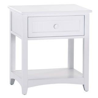 NE Kids School House 1-drawer Nightstand White