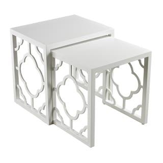 Gloss White Nesting Tables (Set of 2)