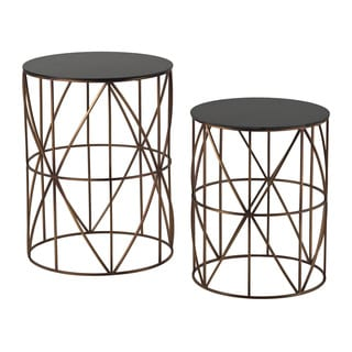 Bradfield Drum Side Tables (Set of 2)