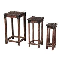 Distressed Finish Stacking Tables 3-Piece