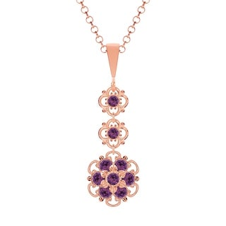 Lucia Costin .925 Silver Violet Crystal Pendant