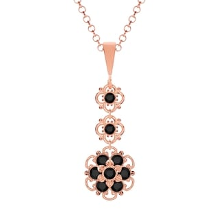 Lucia Costin Silver Black Crystal Pendant