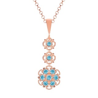 Lucia Costin .925 Silver Light Blue Crystal Pendant