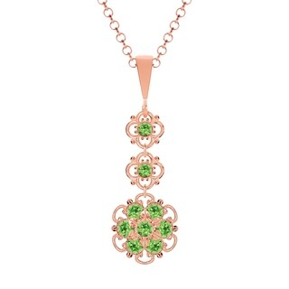Lucia Costin Silver Light Green Crystal Pendant