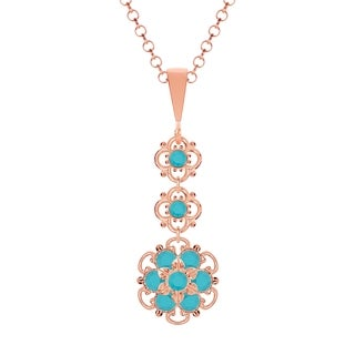 Lucia Costin Silver Turquoise Crystal Pendant
