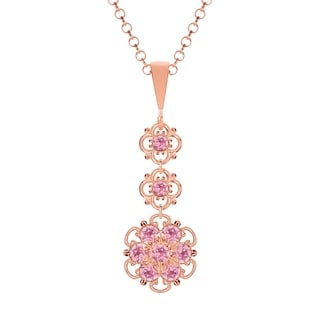 Lucia Costin .925 Silver Light Pink Crystal Pendant